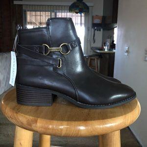 Dark brown booties